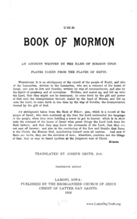 The Book Of Mormon, 1916