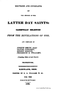 Doctrine And Covenants Of The Church Of The Latter Day Saints