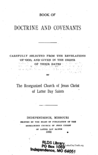 Doctrine And Covenants, 1922