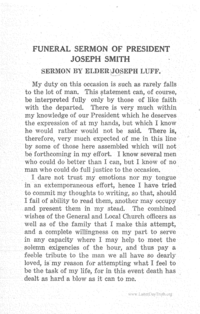 Funeral Sermon Of Joseph Smith, III