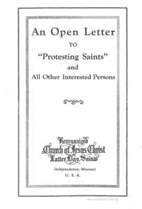 An Open Letter To Protesting Saints And All Other Interested Persons