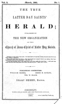 The True Latter Day Saints' Herald, volume 2