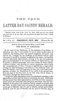 The True Latter Day Saints' Herald, volume 3