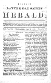 The True Latter Day Saints' Herald, volume 13