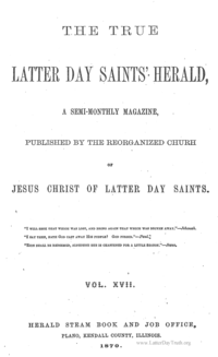 The True Latter Day Saints' Herald, volume 17