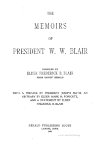 The Memoirs Of President W. W. Blair