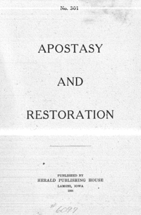 No. 301 The Apostasy And The Restoration