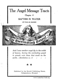 Baptism In Water [The Angel Message Tracts Chapter 4]