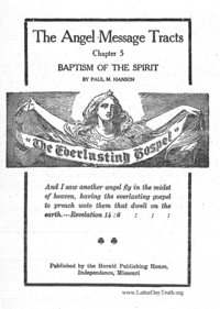 Baptism Of The Spirit [The Angel Message Tracts chapter 5]