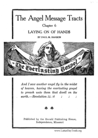 Laying On Of Hands - The Angel Message Tracts chapter 6