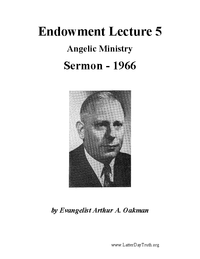 Endowment Lecture 5 - Angelic Ministry [Audio Sermon]