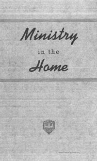Ministry In The Home
