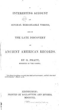 A Interesting Account Of Several Remarkable Visions And Of The Late Discovery Of Ancient American Records