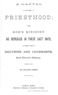 A manual Of The Priesthood