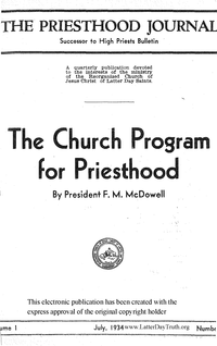 The Priesthood Journal