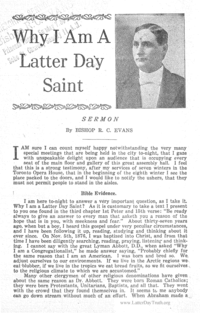 Why I Am A Latter Day Saint
