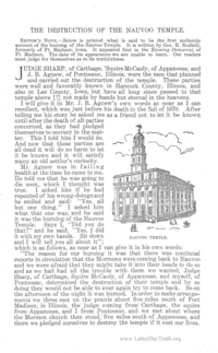 The Destruction Of The Nauvoo Temple [from Autumn Leaves volume 18]