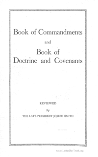 Book Of Commandments And Book Of Doctrine And Covenants