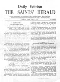 1915 Saints Herald Conference Daily