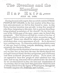 The Evening And The Morning Star Extra July 16, 1833
