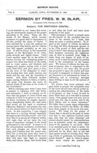 The Restored Gospel [Saints' Herald Sermon Series vol. 2], 1894