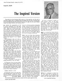 The Inspired Version [from Saints Herald volume 104]
