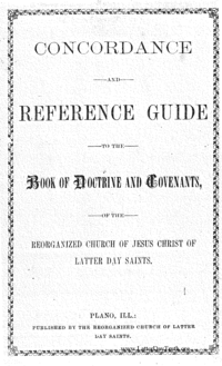 Concordance And Reference Guide To The Book Of Doctrine And Covenants, Of The Reorganized Church Of Jesus Christ Of Latter Day Saints