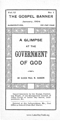 A Glimpse At The Government Of God [The Gospel Banner volume 12 number 1]