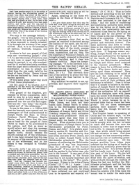 Was Joseph Smith Ordained By Peter, James And John To The Melchisedec Priesthood [from The Saints' Herald vol. 46], 1899