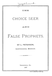 The Choice Seer And False Prophets