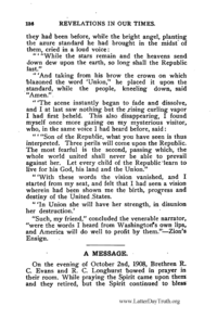 A Message By R. C. Evans [from Revelations In Our Times], 1908