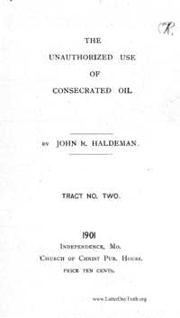 The Unauthorized Use Of Consecrated Oil