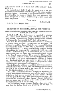1860 Semi-Annual General Conference Minutes [from Saints Herald volume 1]