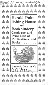 Herald Publishing House And Bookbindery Catalogue And Price List Of Publications And Books