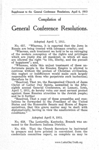 Compilation Of General Conference Resolutions 1913 Supplement