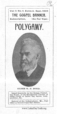 Polygamy [The Gospel Banner vol. 11 no. 4 extra A], 1903