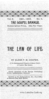 The Law Of Life [The Gospel Banner vol. 6 no. 4], 1899