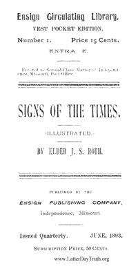 Signs Of The Times [Ensign Circulating Library no. 1 extra E], 1893