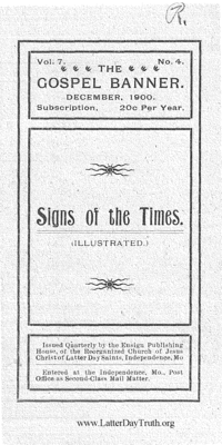 Signs Of The Times (Illustrated) [The Gospel Banner vol. 7 no. 4], 1900