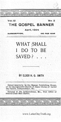 What Shall I Do To Be Saved? [The Gospel Banner vol. 12 no. 2]