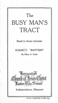 Baptism [The Busy Man's Tract]