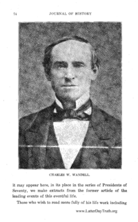 Biography Of Charles Wesley Wandell [from Journal Of History volume 8]