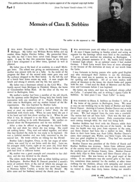 Memoirs Of Clara B. Stebbins [from The Saints' Herald volume 105]