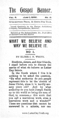 What We Believe And Why We Believe It [The Gospel Banner vol. 8 no. 2]