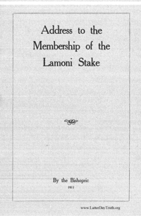 Address To The Membership Of The Lamoni Stake