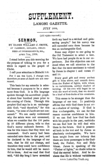 Sermon By Willard J. Smith [Supplement Lamoni Gazette]