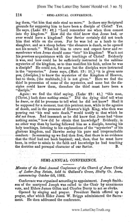 1862 Semi-Annual General Conference Minutes [from The True Latter Day Saints' Herald volume 3 pages 114-119 and 131-135]