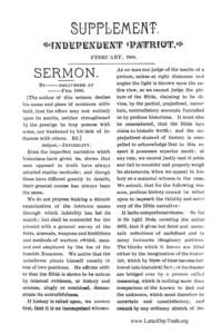 Sermon [Independent Patriot Supplement]