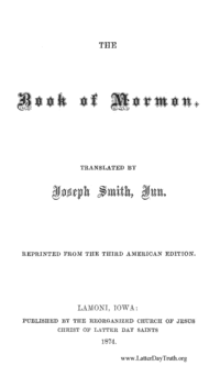The Book Of Mormon, 1874