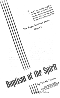 Baptism Of The Spirit [The Angel Message Series chapter 5]